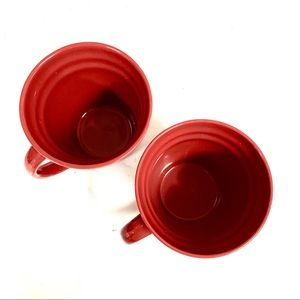 New RACHAEL RAY Set of 2 Double Red Coffee Cups